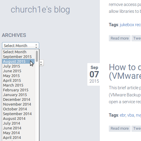 Beta release for archive plugin for nibbleblog